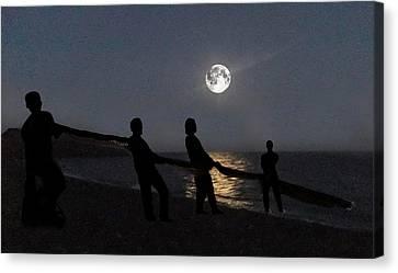 Moon Shadows  Canvas Print by Eric Kempson