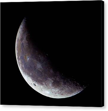 Moon Sliver Canvas Print by Todd Ryburn