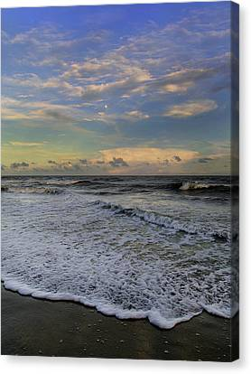 Moon Surf Canvas Print by Betsy C Knapp