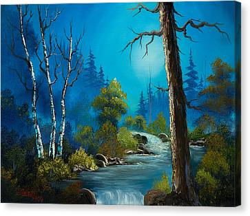 Moonlight Stream Canvas Print by C Steele