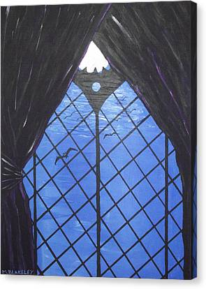 Moonlight Through The Window Canvas Print by Martin Blakeley