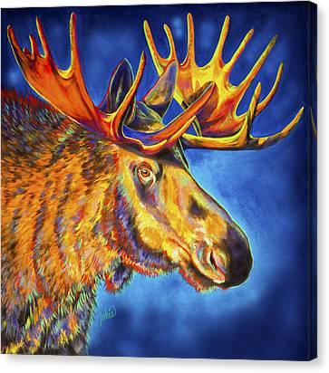 Moose Blues Canvas Print by Teshia Art