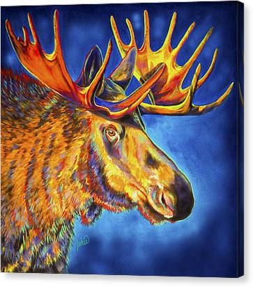 Moose Blues Canvas Print by Teshia Art
