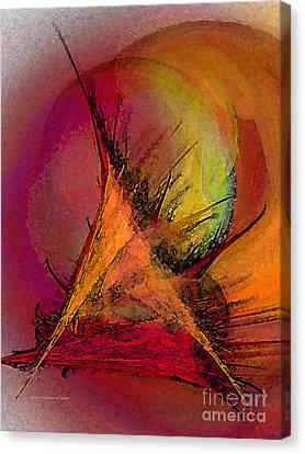 Moonstruck-abstract Art Canvas Print by Karin Kuhlmann