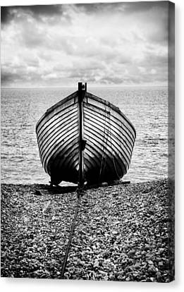 Moored Canvas Print by Mark Rogan