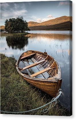 Moored On Loch Awe Canvas Print by Dave Bowman