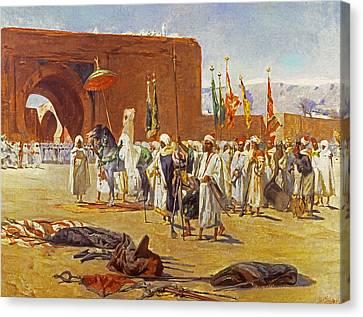 Moorish Procession Canvas Print by Jean Joseph Benjamin Constant