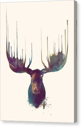 Moose Canvas Print by Amy Hamilton