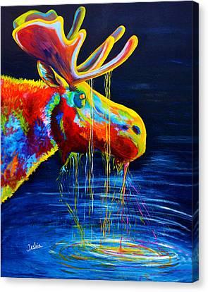 Moose Drool Canvas Print by Teshia Art