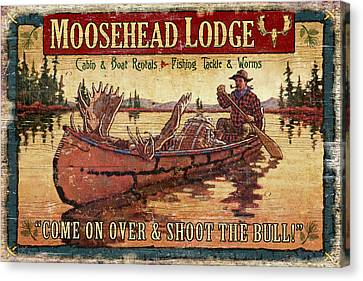 Moosehead Lodge Canvas Print by JQ Licensing