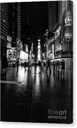 More Times Square Mono Canvas Print by John Farnan