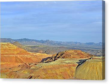Morenci - A Beauty Of A Copper Mine Canvas Print by Christine Till