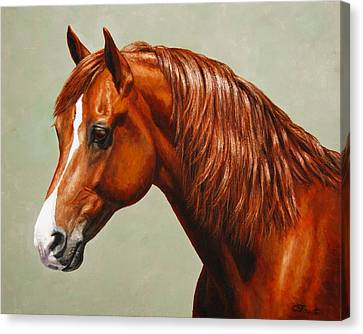 Morgan Horse - Flame - Mirrored Canvas Print by Crista Forest