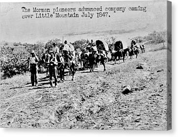 Mormon Pioneers Canvas Print by Benjamin Yeager