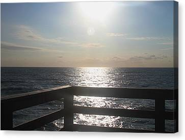 Morning At Avon Pier Canvas Print by Cathy Lindsey