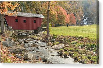 Morning At The Park Canvas Print by Bill Wakeley