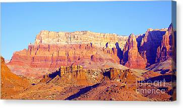 Morning At Vermillion Cliffs And Cathedral Canyon Canvas Print by Douglas Taylor