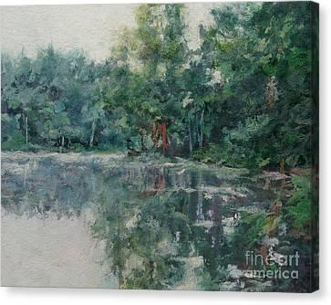 Morning Calm - Adirondacks Canvas Print by Gregory Arnett