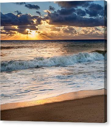 Morning Clouds Square Canvas Print by Bill Wakeley