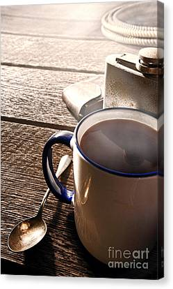 Morning Coffee At The Ranch  Canvas Print by Olivier Le Queinec