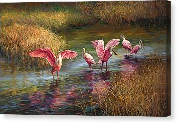 Morning Dance Canvas Print by Laurie Hein