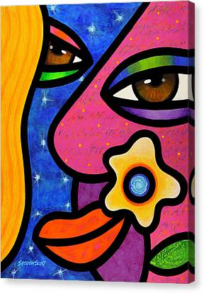 Morning Gloria Canvas Print by Steven Scott