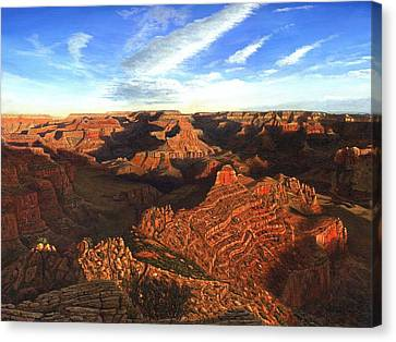 Morning Glory - The Grand Canyon From Kaibab Trail  Canvas Print by Richard Harpum