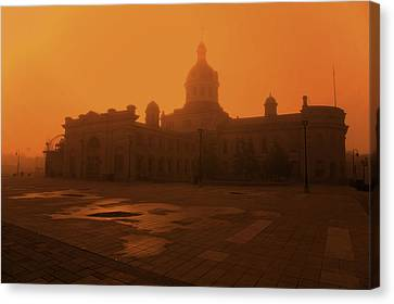 Morning Glow Over City Hall Canvas Print by Jim Vance