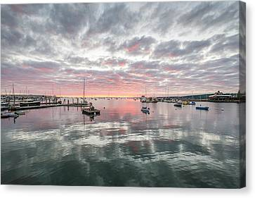 Morning In Rockland Harbor Canvas Print by Tim Sullivan