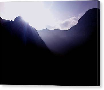 Morning In The Mountains Canvas Print by Lucy D
