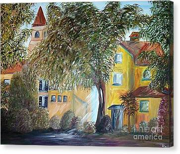 Morning In The Old Country Canvas Print by Eloise Schneider