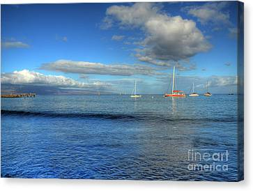 Morning Lahaina Harbor Canvas Print by Kelly Wade