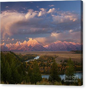 Morning Light At Snake River Overlook Canvas Print by Keith Kapple