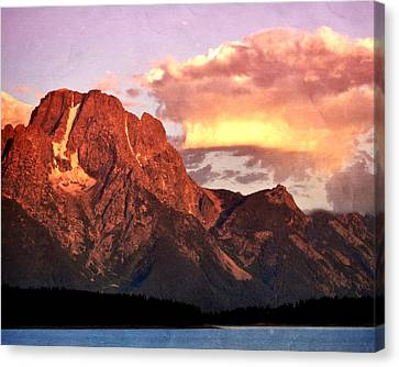 Morning Light On The Tetons Canvas Print by Marty Koch