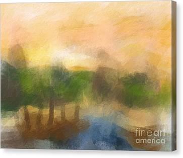 Morning Light Painting Canvas Print by Lutz Baar