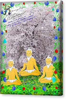 Morning Prayer Canvas Print by R R  Balasar