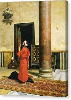 Morning Prayers Canvas Print by Ludwig Deutsch