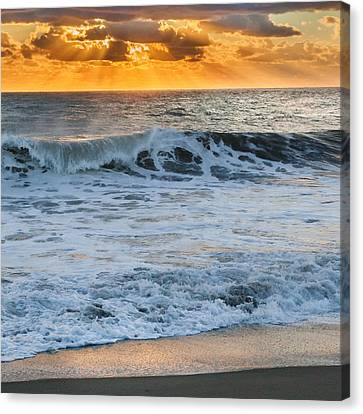Morning Rays Square Canvas Print by Bill  Wakeley