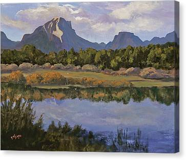 Morning Reflections Canvas Print by Bev Finger