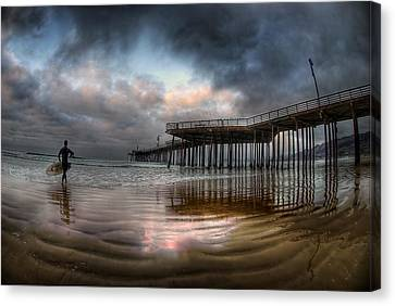 Morning Session In Pismo Canvas Print by Sean Foster