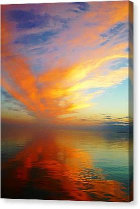 Morning Sky Ocracoke Nc Canvas Print by Joan Meyland