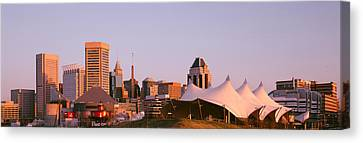 Morning Skyline & Pier 6 Concert Canvas Print by Panoramic Images