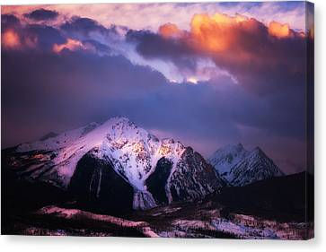 Morning Storm Canvas Print by Darren  White