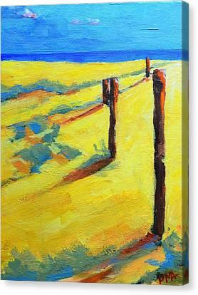 Morning Sun At The Beach Canvas Print by Patricia Awapara