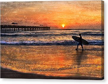 Morning Surf Canvas Print by Debra and Dave Vanderlaan