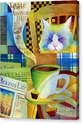 Morning Table Canvas Print by Hailey E Herrera