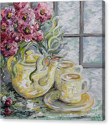 Morning Tea For Two Canvas Print by Eloise Schneider