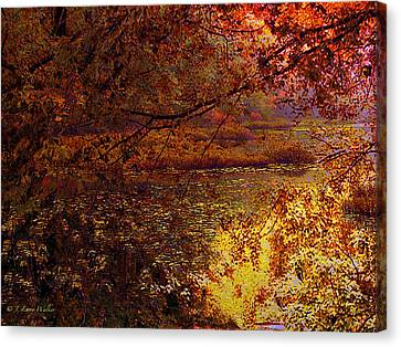 Morning Tranquility Canvas Print by J Larry Walker