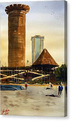 Morning Workhours In Nairobi Canvas Print by James Nyika