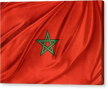 Moroccan Flag Canvas Print by Les Cunliffe